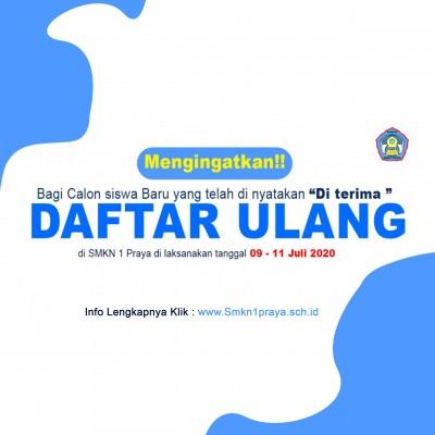 PENTING!! Info Daftar Ulang & Beasiswa Jurusan di SMKN 1 Praya