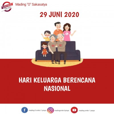 Keluarga kecil yang sehat dan sejahtera (HARGANAS 2020)